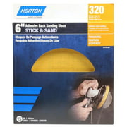 Norton 50134-038 Adhesive-Back Sanding Discs, Gold, 320 Grit, 6-In., 15-Ct. - Quantity 1