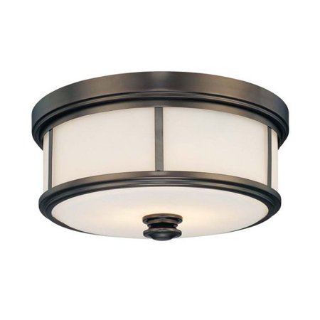 Minka Lavery 4365-281 2 Light Flush Mount In Harvard Court Bronze