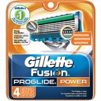 Gillette Fusion ProGlide Power Razor Cartridge Refills, 4 count