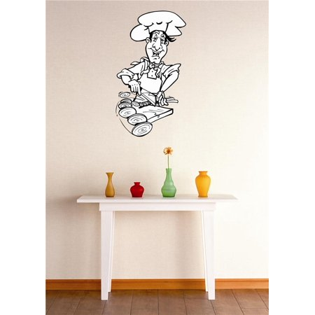 Do it yourself wall decal sticker chef cooking kitchen for Do it yourself wall mural