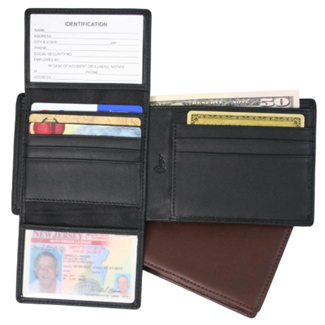 Royce Leather RFID109A-5 Royce Leather Rfid Blocking Euro Commuter Wallet - Black