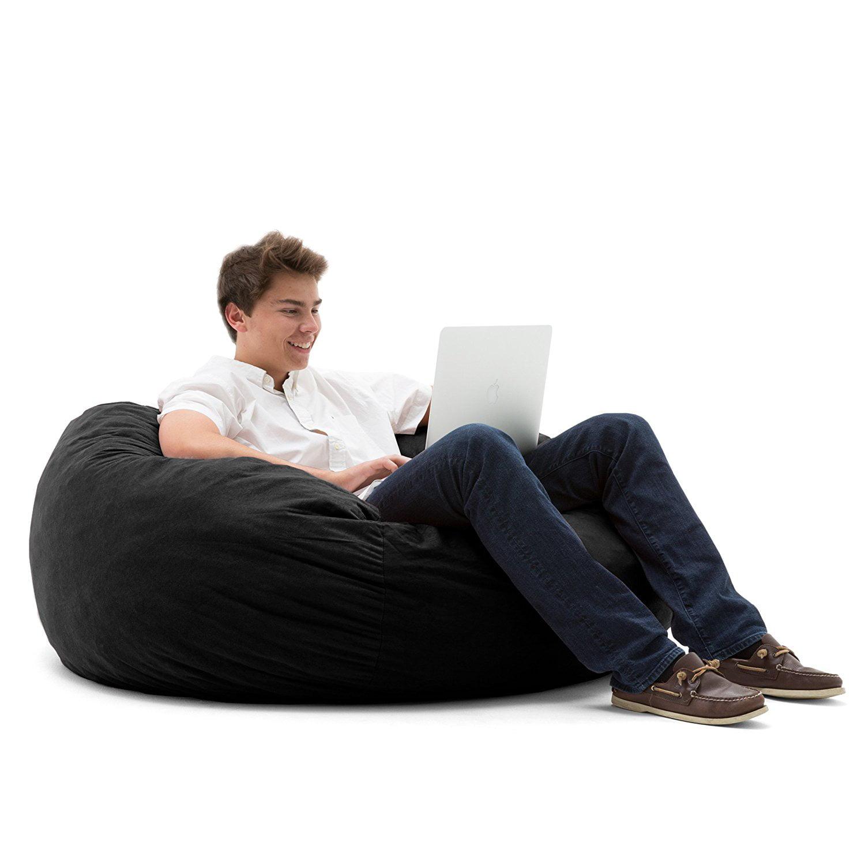 Big Joe Large 4' Fuf Bean Bag Chair, Multiple Colors/Fabrics