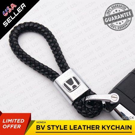 Hound Accessories (Honda Emblem Black Calf Leather Alloy Keychain Decoration Gift Accessories )