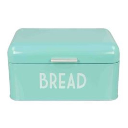 Designer Bread Bin - Home Basics Metal Bread Box, Turquiose