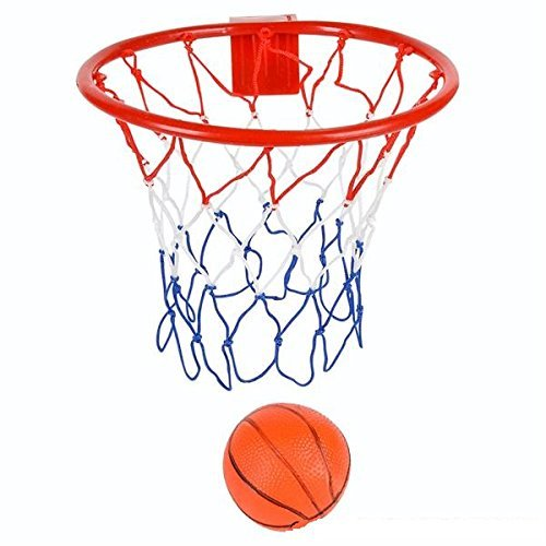8-Inch Over The Door Basketball Hoop - With mini Ball Set Or On The Wall – Fun Sports Game - Great for Kids, Teens And Adults - By Kidsco