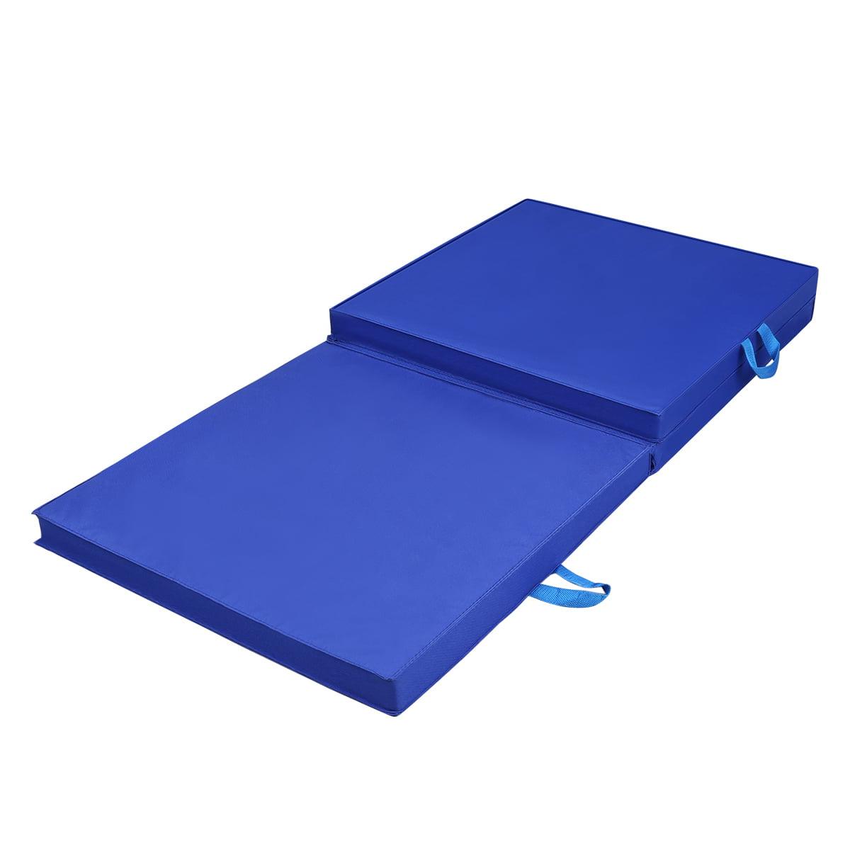 3 Folding Exercise Floor Mat Gymnastics Mats 5cm Thick Tri ...