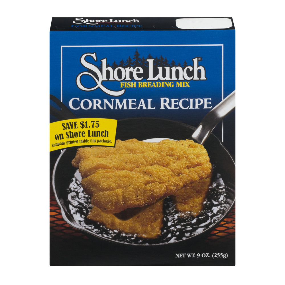 Shore Lunch Fish Breading Mix Cornmeal Recipe, 9.0 OZ