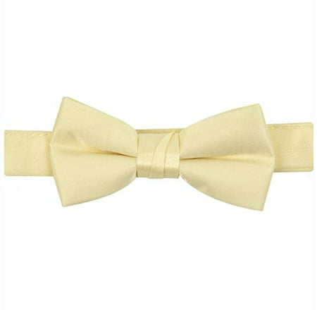 54ae2c8d6a80e Hold'Em Bow Tie For Mens Boys and Baby Satin look Solid Color Adjustable  Pre-tied Made in USA - Kids Banana