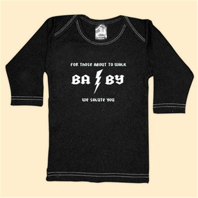 Rebel Ink Baby 307ls1824 For Those About to Walk- 18-24 Month Black Long Sleeve Tee
