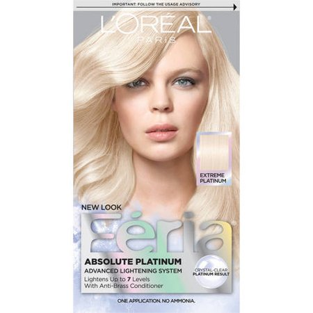 L'Oreal Paris Feria Multi-Faceted Shimmering Permanent Hair Color, Extreme Platinum, 1 (Argan Oil Hair Color Medium Chocolate Brown)