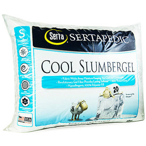 Serta CoolGel Pillow, White, Set of 2