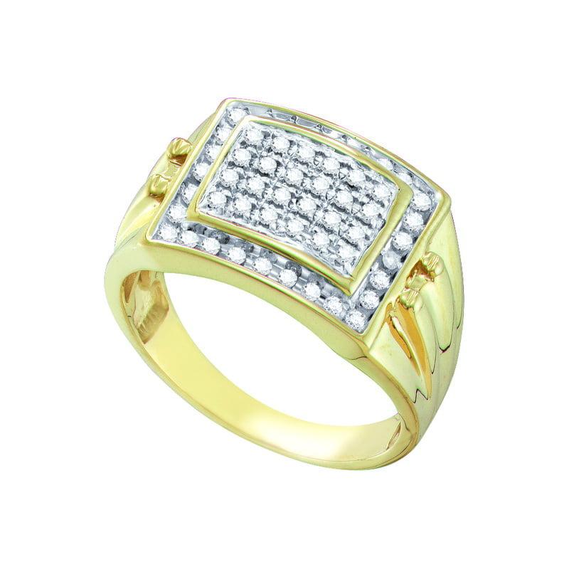 10K Yellow Gold 0.50ctw Channel Set Diamond Mens Wedding Band Anniversary Ring