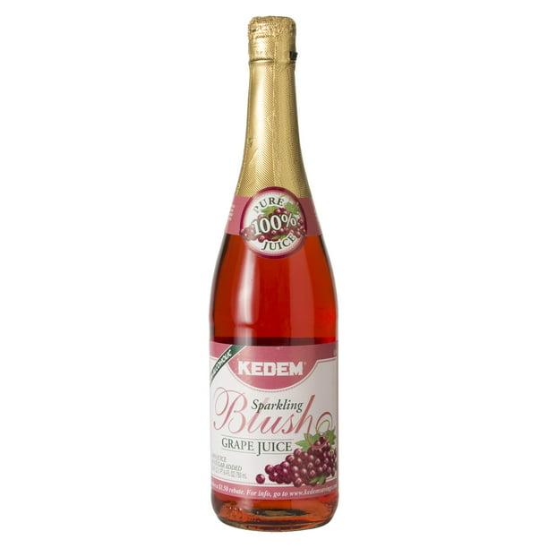 Kedem Sparkling Grape Juice, Blush, 25.4 Fl Oz, 1 Ct