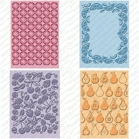 Provo Craft Cuttlebug Embossing Folder (Cuttlebug Cricut Companion Embossing Folders 4/Pkg-Preserves (2))