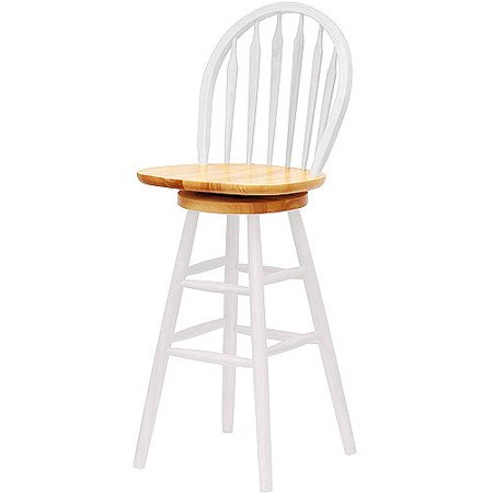 "Winsome Wood Wagner 30"" Windsor Swivel Bar Stool, Multiple Finishes"