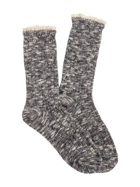 Crochet Trim Crew Socks