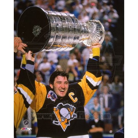 Mario Lemieux Pittsburgh Penguins 1991 Stanley Cup Photo 8x10 #3, Exhibition Quality High Gloss 8x10 Color Photograph By