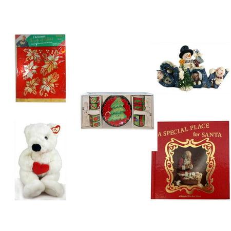 Mountain Foil (Christmas Fun Gift Bundle [5 Piece] -  Touch of Gold 1-Step Iron-On Foil Poinsettias - Crazy Mountain Snowman Family