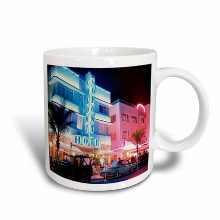 3dRose South Beach Miami - Ceramic Mug, 11-ounce](Miami Beach Halloween Party 2017)