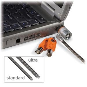 Kensington K67723US Kensington MicroSaver K67723 Keyed Ultra Notebook Lock - Patented T-bar Lock - Carbon Steel - 6ft
