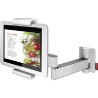 "Barkan 7"" - 12"" Full Motion- 4 movements, Tablet wall & Cabinet Mount, White, up to 2.2 lbs, 5 Year Warranty."
