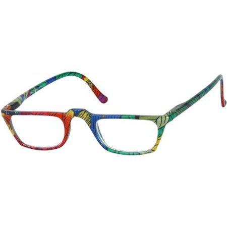 Readers Com The Tropical  2 50 Blue Green Leaves Reading Glasses