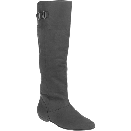Laundry List Women's Faux Suede Flat Riding Boot