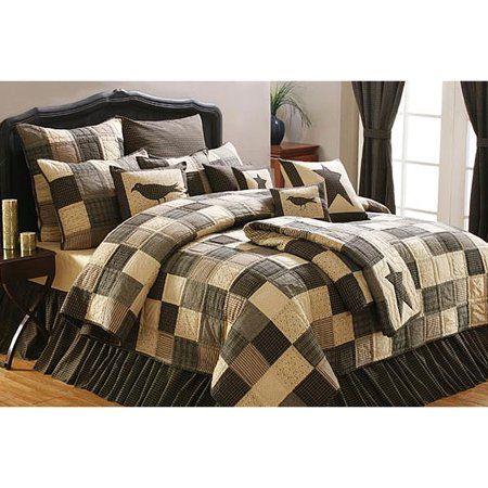 Primitive Patchwork Quilt 4 Piece Kettle Grove Set for $<!---->