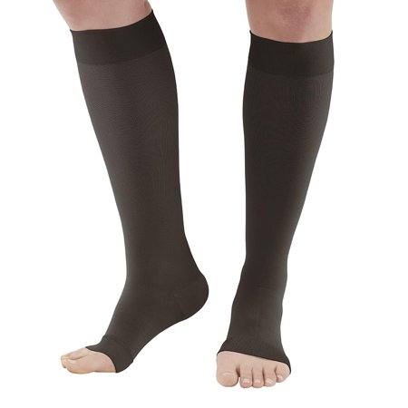 Ames Walker AW Style 291OT Luxury Opaque 20-30 mmHg Firm Compression - Open Toe Knee High Compression Stockings man Xlarge - relieve tired legs-mild varicose veins - leg swelling (Stocking Legs)