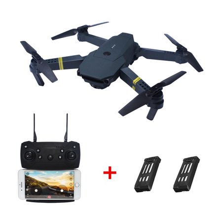 2MP Camera WIFI FPV Foldable Arm Selfie Drone 6 Axis 2.4G 4CH RC Quadcopter + 2PCS (Best Quadcopter With Camera Under 100)