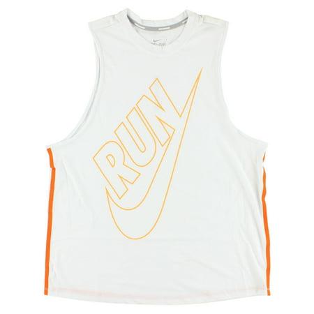 Nike Women's Dri Fit Tailwind Loose Tank Top White