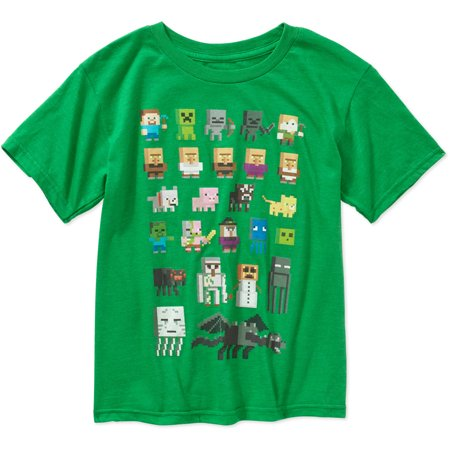 Minecraft Sprites Boys Graphic Tee
