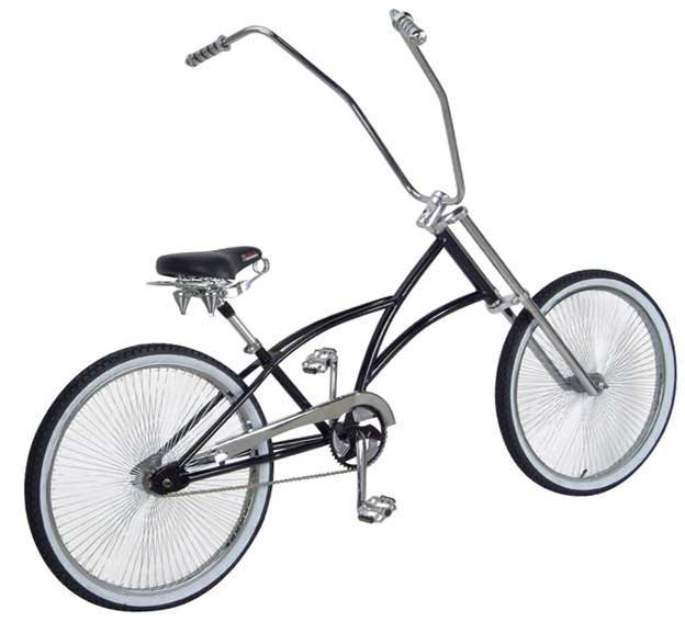 "26"" Chopper 144-Spoke Beach Cruiser Bike, Black"