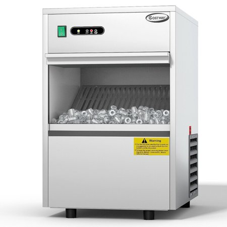 Costway Automatic Ice Maker Stainless Steel 58lbs/24h Freestanding Commercial Home