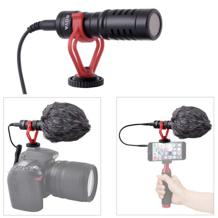 super cardioid shotgun video microphone universal compact on camera mini recording mic. Black Bedroom Furniture Sets. Home Design Ideas