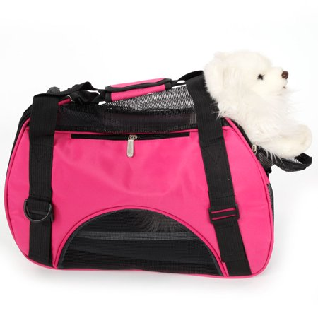 Zimtown Pet Dog Nylon Handbag Carrier Travel Tote Bag Travel For Small Animals S/M/L (Access Small Pet Carrier)