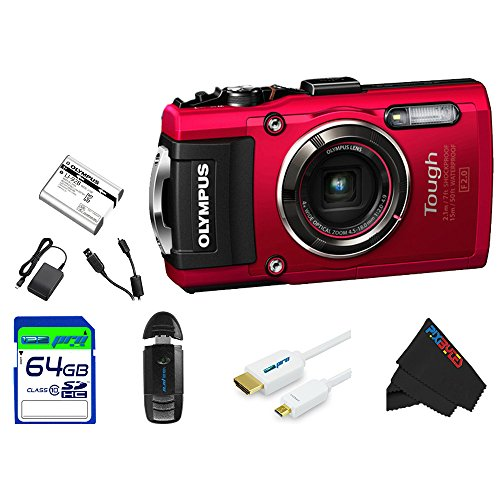 Olympus OLYTG4RD-64GB4PC Stylus 16 Waterproof Digital Cam...