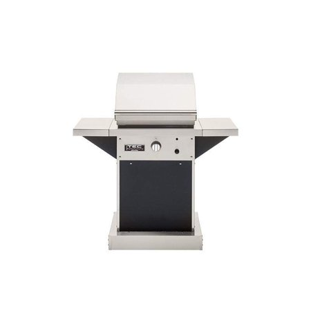TEC Patio 1 FR Infrared Natural Gas Grill On Black Pedestal with Two Side