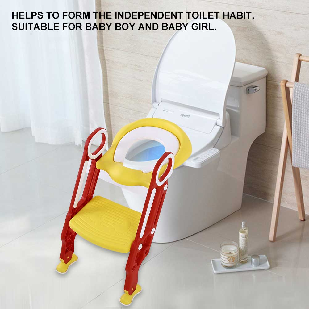 Lv. life Portable Baby Toddler Hard Toilet Chair Ladder Kids Adjustable Safety Potty Training Seat, Toddlers Potty Seats , Potty Chair