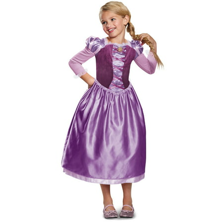 Rapunzel Halloween Costume With Wig (Girls Rapunzel Day Dress Classic)