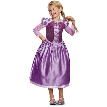 Girls Rapunzel Day Dress Classic Costume (Rapunzel Hair For Kids)