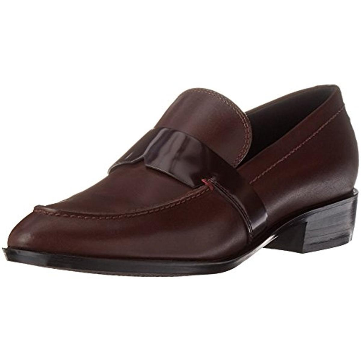 Geox Respira Womens Lover Leather Patent Trim Loafers