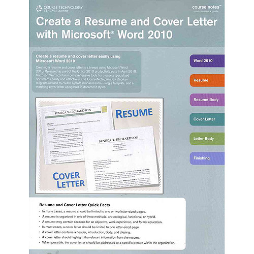 create a resume and cover letter with microsoft word 2010