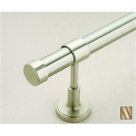 - Palas 1016 Curtain Rod Set - 1.25 in. - Oxidized Brass - 94 in.