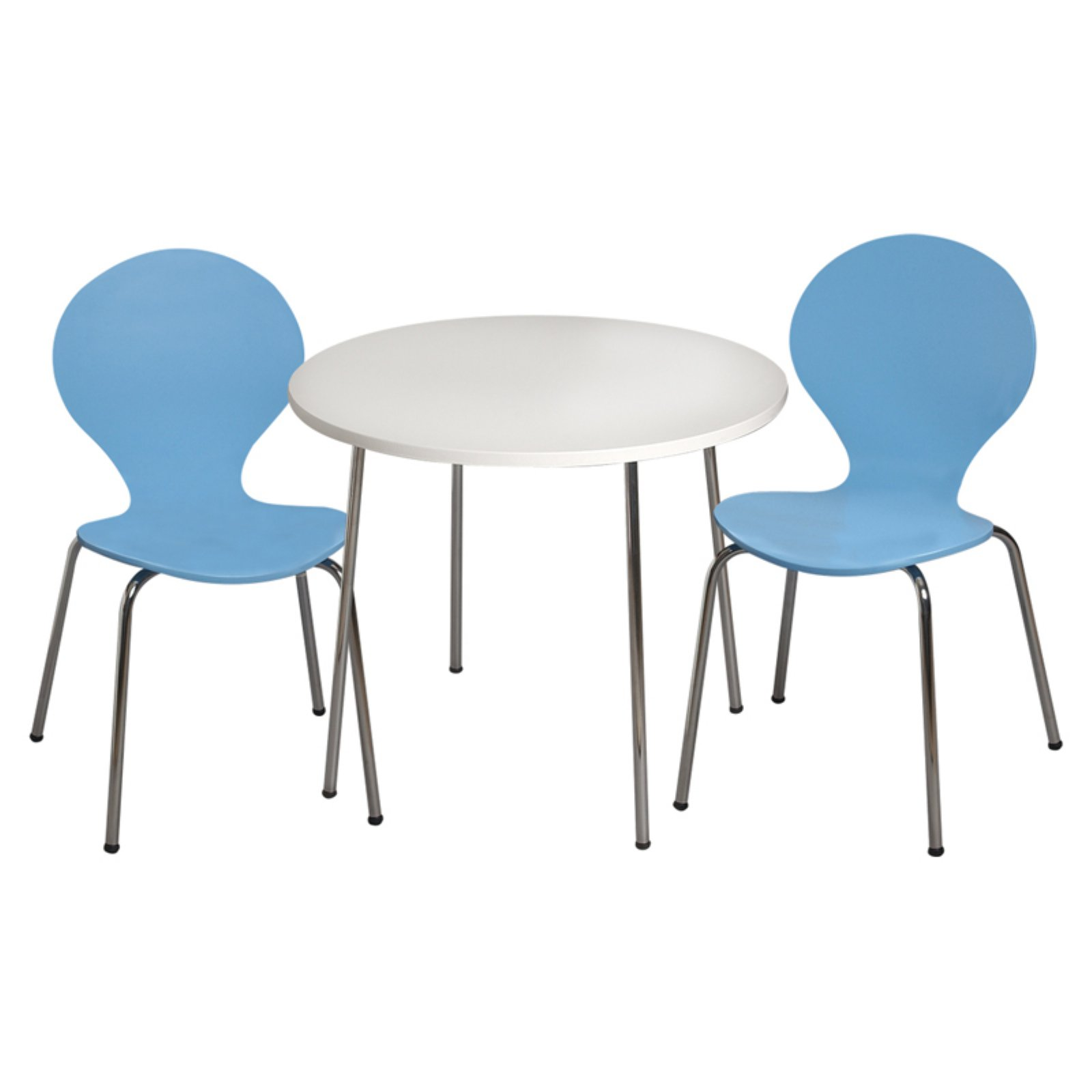 Gift Mark Modern Childrens Table and 2 Chair Set with Chrome Legs
