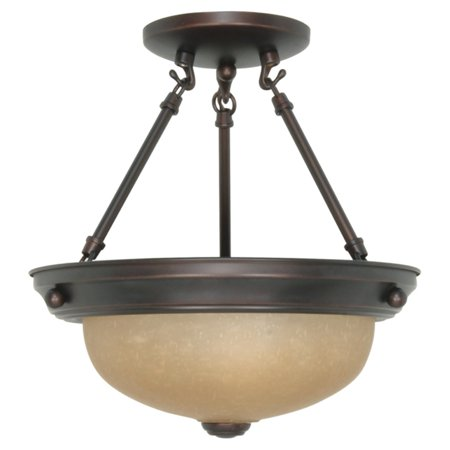 Nuvo Semi Flush Mount Light with Smooth Shade