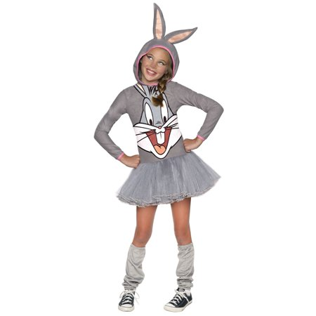 Looney Tunes Bugs Bunny Hooded Costume for Kids](Looney Tunes Halloween Costume)