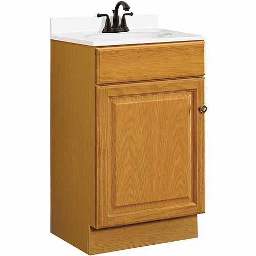 Design House 531970 Claremont Honey Oak Vanity Cabinet with 1 Door and 1 Drawer