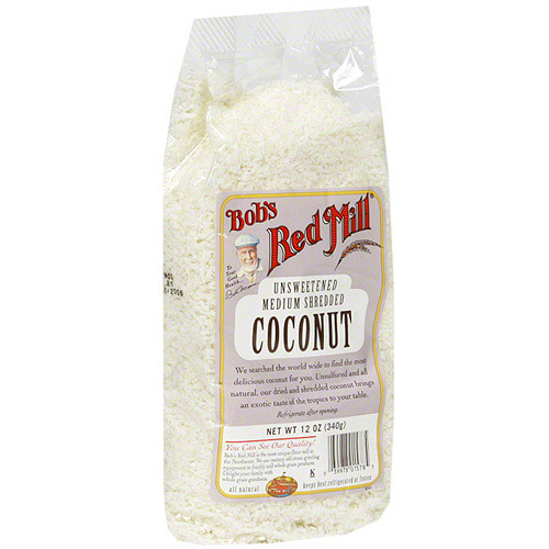Bob's Red Mill Shredded Unsweetened Coconut, 12 oz (Pack of 4)