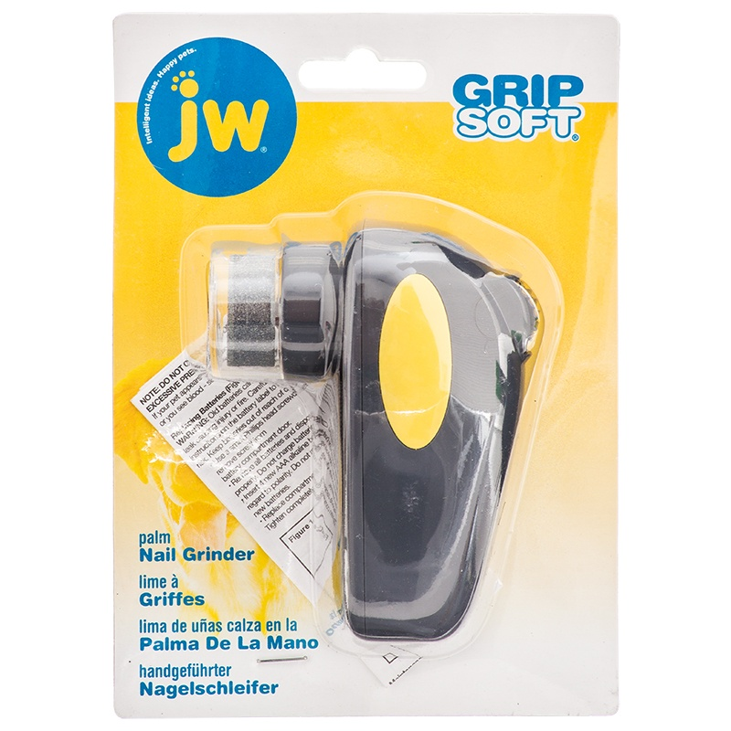 """JW GripSoft Palm Nail Grinder for Dogs 4"""" Long x 3"""" Wide"""